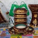 Rebana Hadroh 1 Paket Ukiran Lengkap Warna Coklat