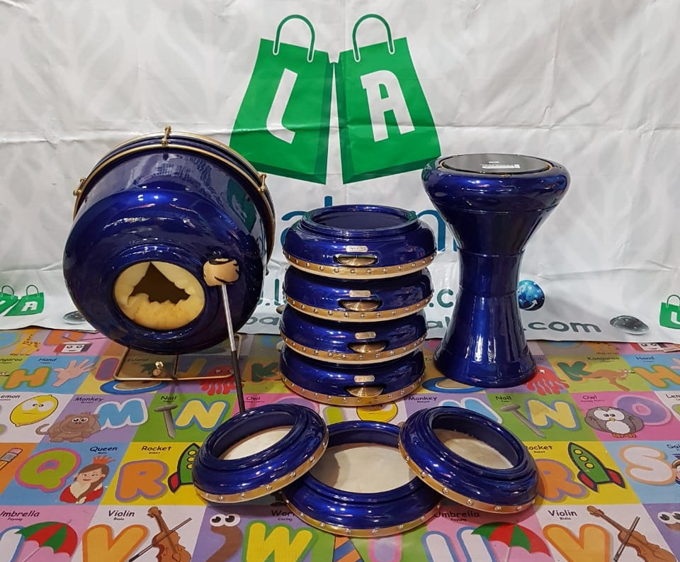 Jepara Hadroh Jepara 1 Set Metalik Biru Tua