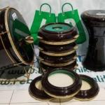 Rebana Hadroh Jepara Polos Metalik Fullset Warna Hitam Istimewa